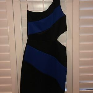Blue and black wet seal beautiful dress
